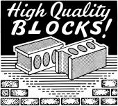 High Quality Blocks — Stock Vector