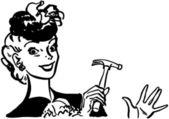 Handige vrouw — Stockvector