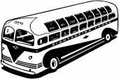Modern Tour Bus — Stock Vector