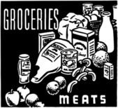 Groceries Meats — Stockvector