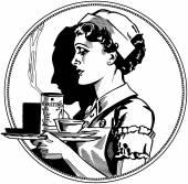 Krankenschwester-Symbol — Stockvektor