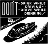 Don't Drink While Driving — Stock Vector