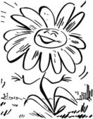 Smiling Daisy Flower — Stock Vector