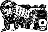 Wagon Train — Stock Vector