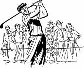 Professional Golfer — Stock Vector