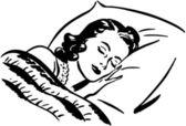 Sovande kvinna — Stockvektor