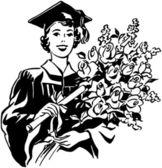 Flowers A Joyous Gift — Stock Vector