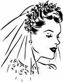 Spring Bride — Stock Vector