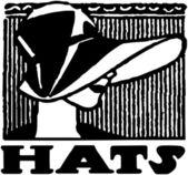 Hats Banner — Stock Vector