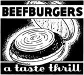 Beefburgers — Stock Vector