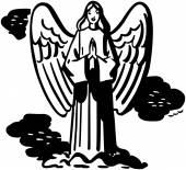 Anjo orando — Vetorial Stock