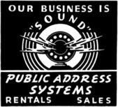 Public Address System — Stock Vector