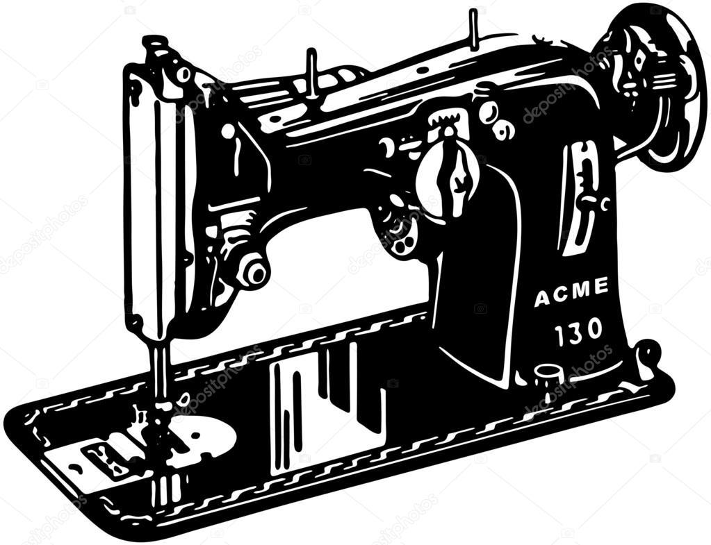 Nähmaschine — Stockvektor #55674569 -> Nähmaschine Blockiert