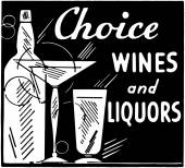 Choice Wines And Liquors — Stock Vector