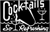 Banner with inscription - Cocktails So Refreshing — Vector de stock