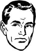 Drawn Contemplative Man — Stock Vector
