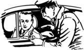 Cop Writing Ticket, illustration — Wektor stockowy
