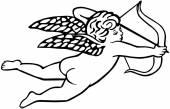 Illustration of Shooting Cupid — Vetorial Stock