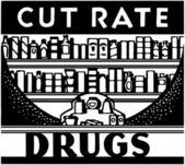 Cut Rate Drugs — Stockvector