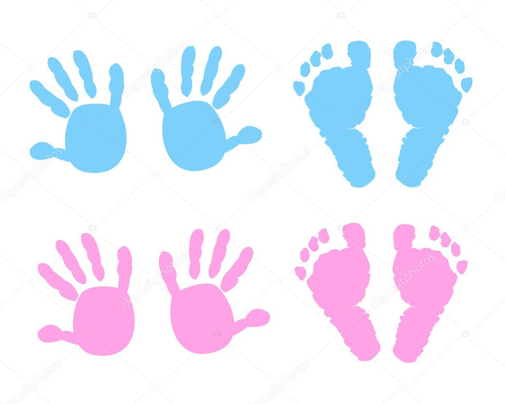beb u00e9  beb u00e9 imprimir pies y manos vector ilustraci u00f3n handprint clipart free Handprint Clip Art Black and White