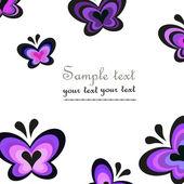 Butterflies modern greeting vector background — Stock fotografie