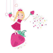 Cute love fairy tale vector — Vector de stock