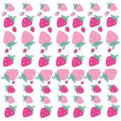 Pink strawberry background vector — Stok Vektör