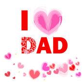 Mám rád táta šťastný otec den kartu vektor — Stock vektor