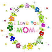 Happy Mother's Day card with flowers — Stock Vector