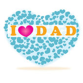 I love you dad happy father's day hearts vector — 图库矢量图片