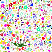 Colorful spring floral background vector — 图库矢量图片