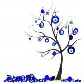 Tree with eye bead vector illustration — Stock Vector