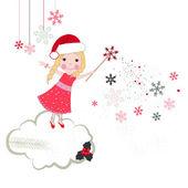 Christmas noel fairytale vector greeting card — Stock vektor
