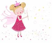 Cute fairytale soap bubbles vector — Stock Vector