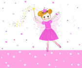 Lovely fairy tale vector with pink stars — Vector de stock