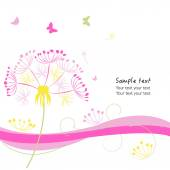 Abstract dandelion valentine day greeting card vector background — Stock Vector