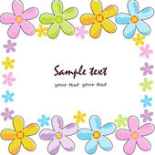 Cute floral colorful frame greeting card — Vector de stock