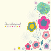 Summer flowers greeting card background — Stock Vector