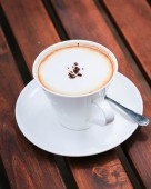 Cappuccino cup of coffee — Stock Photo