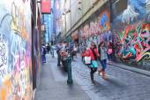Graffiti Melbourne lane — Stock Photo