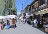 Local market Takayama Japan — Stock Photo