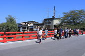 Japanese bridge Takayama — Stock Photo