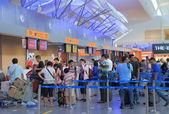 Check in counter KLIA airport — Stock Photo