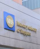 Monetary Authority of Singapore MAS — Stock Photo
