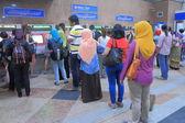 Ticket machine queue KL Central Station Kuala Lumpur — Stock Photo