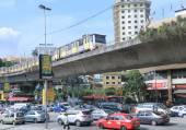 Traffic Jam and monorail Kuala Lumpur — Stockfoto