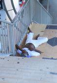 Homeless man in Kuala Lumpur Malaysia — Stock Photo