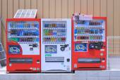 Japanese soft drink vending machine — Stock Photo