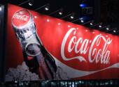 Coca Cola billboard advertisement — Foto Stock
