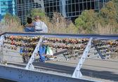 Love Locks Melbourne — Stock Photo